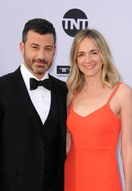 Jimmy Kimmell and Molly McNearney at the AFI's 46th Life Achievement Award Gala Tribute To George Clooney held at the Dolby Theatre in Hollywood, USA on June 7, 2018.