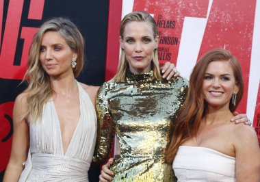 actresses Annabelle Wallis, Leslie Bibb and Isla Fisher at the Los Angeles premiere of 'Tag' held at the Regency Village Theatre in Westwood, USA on June 7, 2018.