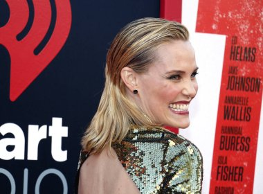 actress Leslie Bibb at the Los Angeles premiere of 'Tag' held at the Regency Village Theatre in Westwood, USA on June 7, 2018.