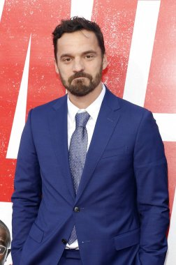 actor Jake Johnson at the Los Angeles premiere of 'Tag' held at the Regency Village Theatre in Westwood, USA on June 7, 2018.