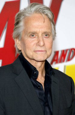 actor Michael Douglas at the Los Angeles premiere of 'Ant-Man And The Wasp' held at the El Capitan Theatre in Hollywood, USA on June 25, 2018.