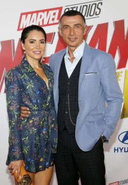Shaun Toub and Lorena Toub at the Los Angeles premiere of 'Ant-Man And The Wasp' held at the El Capitan Theatre in Hollywood, USA on June 25, 2018.