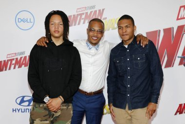 rapper T.I. at the Los Angeles premiere of 'Ant-Man And The Wasp' held at the El Capitan Theatre in Hollywood, USA on June 25, 2018.