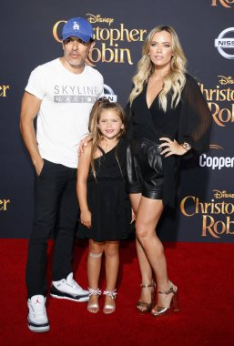 Teddi Mellencamp, Edwin Arroyave and Slate Arroyave at the Los Angeles premiere of 'Christopher Robin' held at the Walt Disney Studios in Burbank, USA on July 30, 2018.