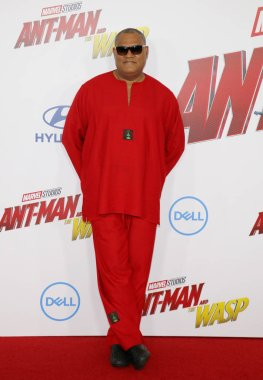 actor Laurence Fishburne at the Los Angeles premiere of 'Ant-Man And The Wasp' held at the El Capitan Theatre in Hollywood, USA on June 25, 2018.