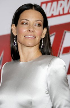 actress Evangeline Lilly at the Los Angeles premiere of 'Ant-Man And The Wasp' held at the El Capitan Theatre in Hollywood, USA on June 25, 2018.