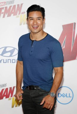 TV personality Mario Lopez at the Los Angeles premiere of 'Ant-Man And The Wasp' held at the El Capitan Theatre in Hollywood, USA on June 25, 2018.