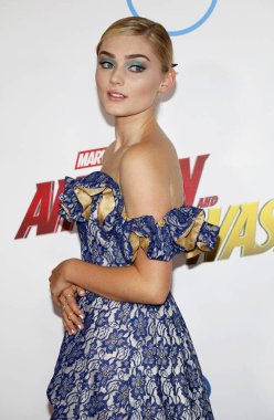 actress Meg Donnelly at the Los Angeles premiere of 'Ant-Man And The Wasp' held at the El Capitan Theatre in Hollywood, USA on June 25, 2018.