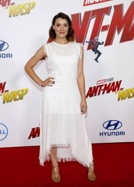 actress Emma Lahana at the Los Angeles premiere of 'Ant-Man And The Wasp' held at the El Capitan Theatre in Hollywood, USA on June 25, 2018.