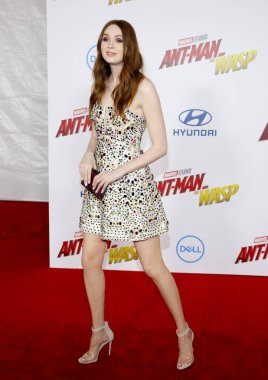 actress Karen Gillan at the Los Angeles premiere of 'Ant-Man And The Wasp' held at the El Capitan Theatre in Hollywood, USA on June 25, 2018.