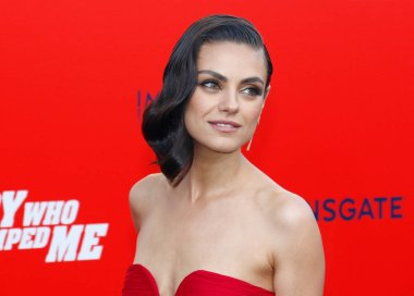 actress Mila Kunis at the Los Angeles premiere of 'The Spy Who Dumped Me' held at the Regency Village Theater in Westwood, USA on July 25, 2018.