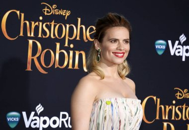 Hayley Atwell at the Los Angeles premiere of 'Christopher Robin' held at the Walt Disney Studios in Burbank, USA on July 30, 2018.