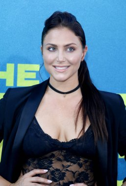 actress Cassie Scerbo at the Los Angeles premiere of 'The Meg' held at the TCL Chinese Theatre IMAX in Hollywood, USA on August 6, 2018.
