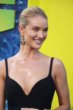 actress Rosie Huntington-Whiteley at the Los Angeles premiere of 'The Meg' held at the TCL Chinese Theatre IMAX in Hollywood, USA on August 6, 2018.