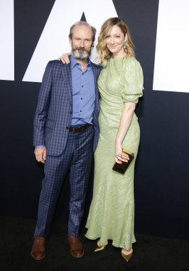 Toby Huss and Judy Greer at the Los Angeles premiere of 'Halloween' held at the TCL Chinese Theatre in Hollywood, USA on October 17, 2018.