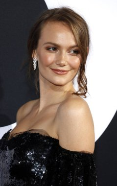 actress Andi Matichak at the Los Angeles premiere of 'Halloween' held at the TCL Chinese Theatre in Hollywood, USA on October 17, 2018.