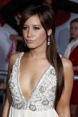 actress Ashley Tisdale at the Los Angeles premiere of 'High School Musical 3: Senior Year' held at the Galen Center in Los Angeles, California, United States on October 16, 2008.