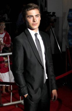 actor Zac Efron at the Los Angeles premiere of 'High School Musical 3: Senior Year' held at the Galen Center in Los Angeles, California, United States on October 16, 2008.