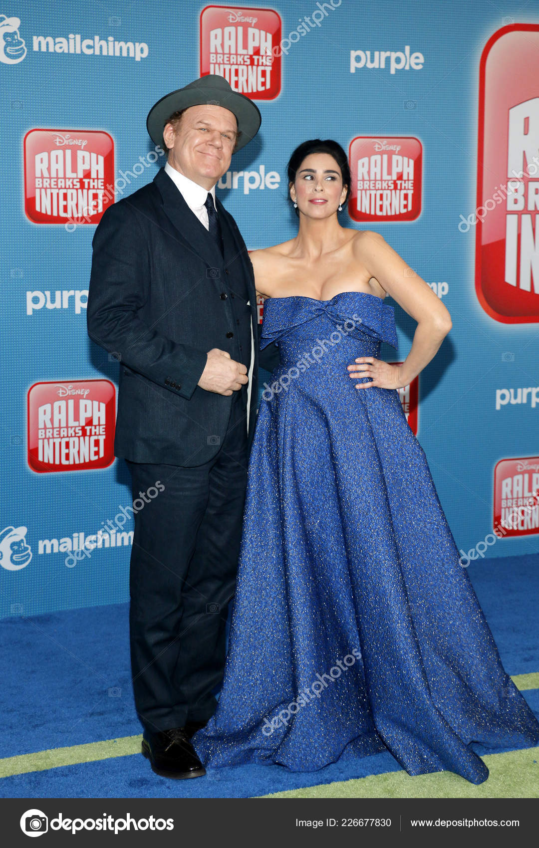 John Reilly Sarah Silverman World Premiere Ralph Breaks Internet Held Stock Editorial Photo C Popularimages 226677830