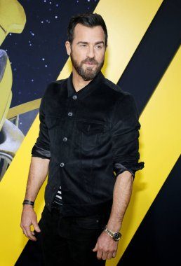 actor Justin Theroux at the World premiere of 'Bumblebee' held at the TCL Chinese Theatre IMAX in Hollywood, USA on December 9, 2018.