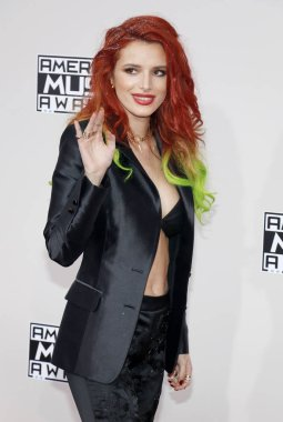 actress Bella Thorne at the 2016 American Music Awards held at the Microsoft Theater in Los Angeles, USA on November 20, 2016.