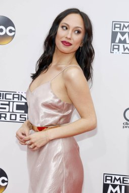 dancer Cheryl Burke at the 2016 American Music Awards held at the Microsoft Theater in Los Angeles, USA on November 20, 2016.