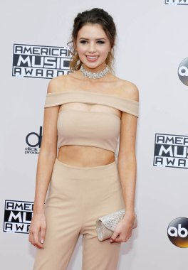 youtuber Jess Conte at the 2016 American Music Awards held at the Microsoft Theater in Los Angeles, USA on November 20, 2016.