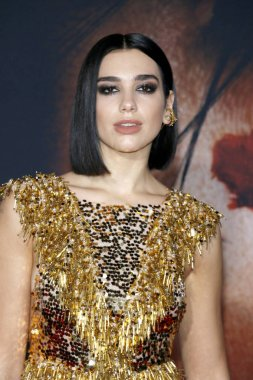 singer Dua Lipa at the Los Angeles premiere of 'Alita: Battle Angel' held at the Regency Village Theatre in Westwood, USA on February 5, 2019.