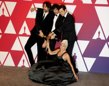 Andrew Wyatt, Anthony Rossomando, Lady Gaga and Mark Ronson