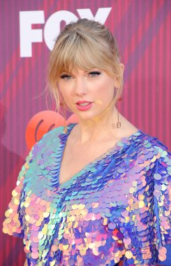 singer Taylor Swift at the 2019 iHeartRadio Music Awards held at the Microsoft Theater in Los Angeles, USA on March 14, 2019.