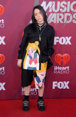 singer Billie Eilish at the 2019 iHeartRadio Music Awards held at the Microsoft Theater in Los Angeles, USA on March 14, 2019.