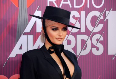 singer Bebe Rexha at the 2019 iHeartRadio Music Awards held at the Microsoft Theater in Los Angeles, USA on March 14, 2019.
