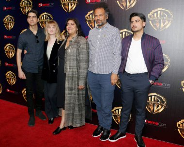 Viveik Kalra, Nell Williams, Gurinder Chadha, Sarfraz Manzoor and Aaron Phagura at the 2019 CinemaCon - Warner Bros. Pictures 'The Big Picture' Presentation held at the Caesars Palace in Las Vegas, USA on April 2, 2019.