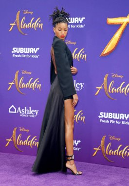 actress Willow Smith at the Los Angeles premiere of 'Aladdin' held at the El Capitan Theatre in Hollywood, USA on May 21, 2019.