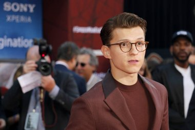 actor Tom Holland at the World premiere of 'Spider-Man Far From Home' held at the TCL Chinese Theatre in Hollywood, USA on June 26, 2019.