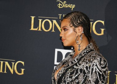 singer Beyonce at the World premiere of 'The Lion King' held at the Dolby Theatre in Hollywood, USA on July 9, 2019.