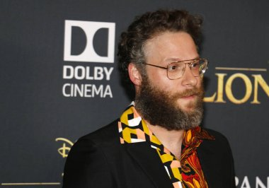 actor Seth Rogen at the World premiere of 'The Lion King' held at the Dolby Theatre in Hollywood, USA on July 9, 2019.