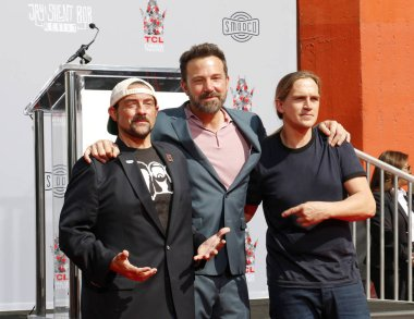 Ben Affleck at the Kevin Smith and Jason Mewes hands and footprint ceremony held at the TCL Chinese Theatre in Hollywood, USA on October 14, 2019.