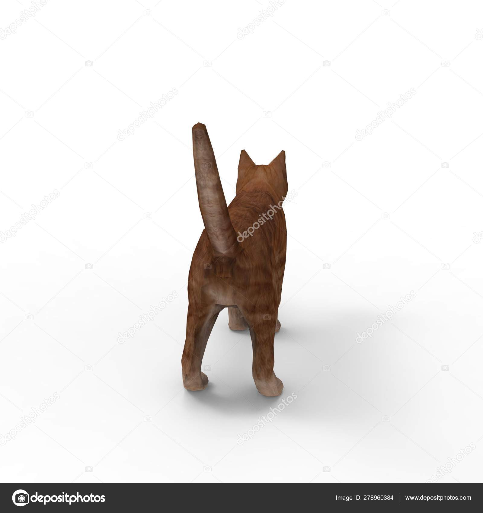 Illustration Cat Rendering Cat Created Using Blender Tool — Стоковое