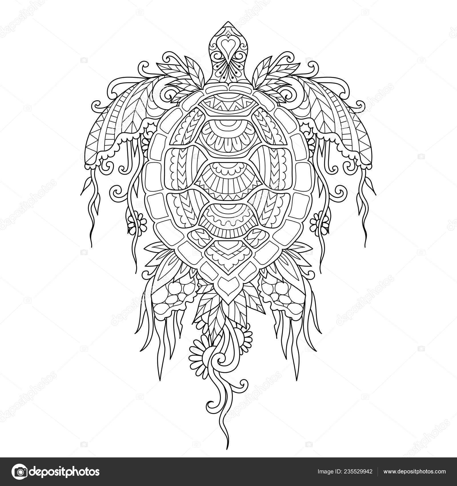 Mercan Deniz Yosunu Vücut Tasarım öğesi Boyama Kitabı Sayfa Veya