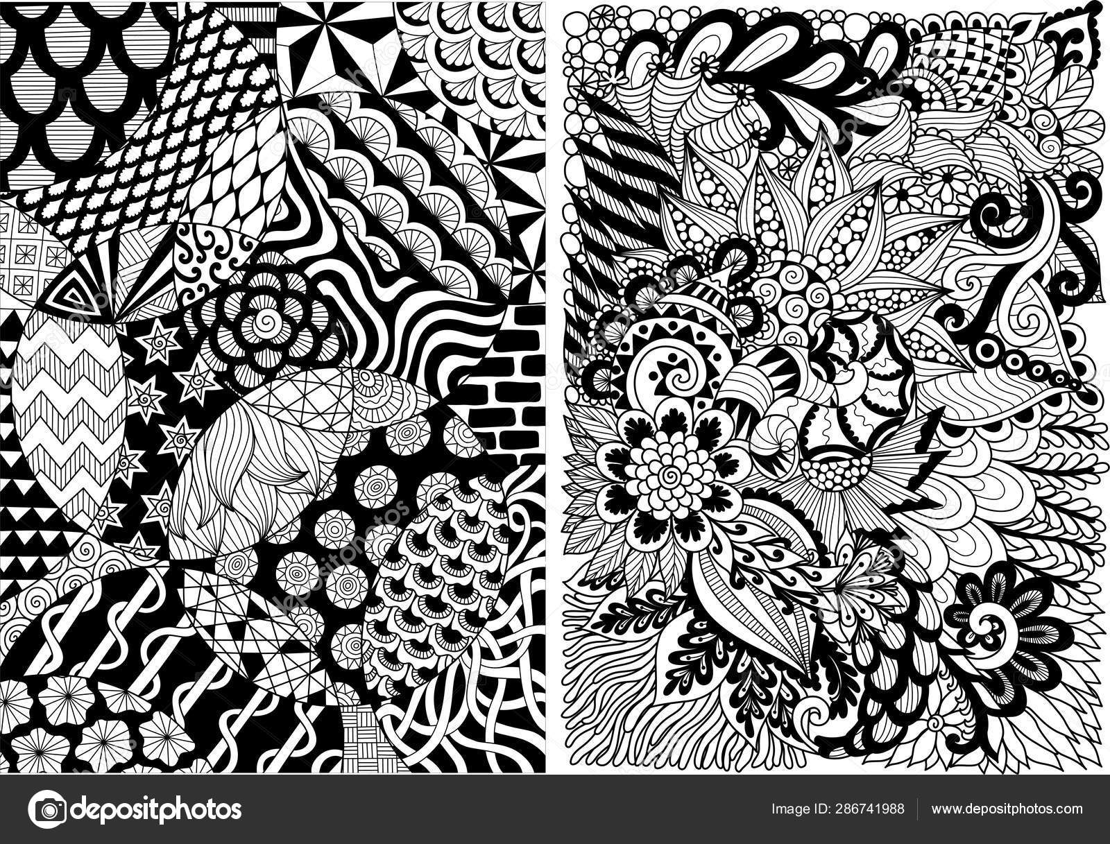 абстрактный рисунок искусства линии фона книги раскраски