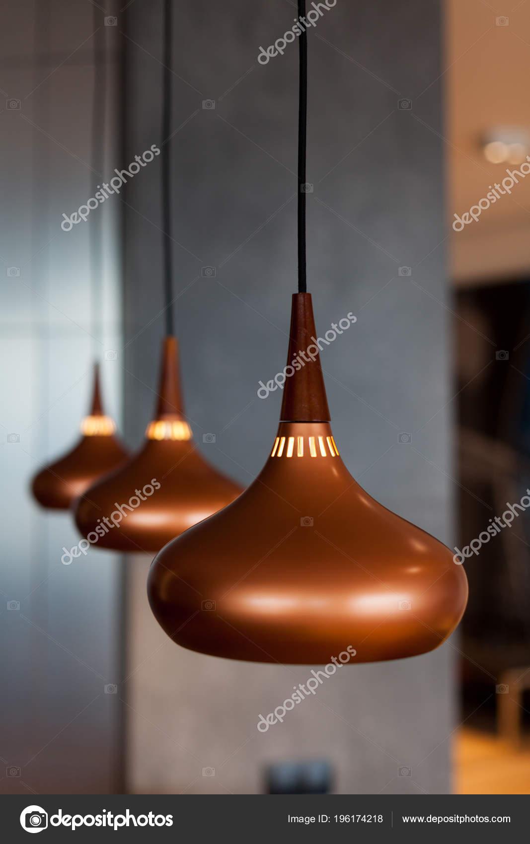 lamparas cobre Tres Nuevas Lmparas Cobre Suspendido Del Techo Comedor