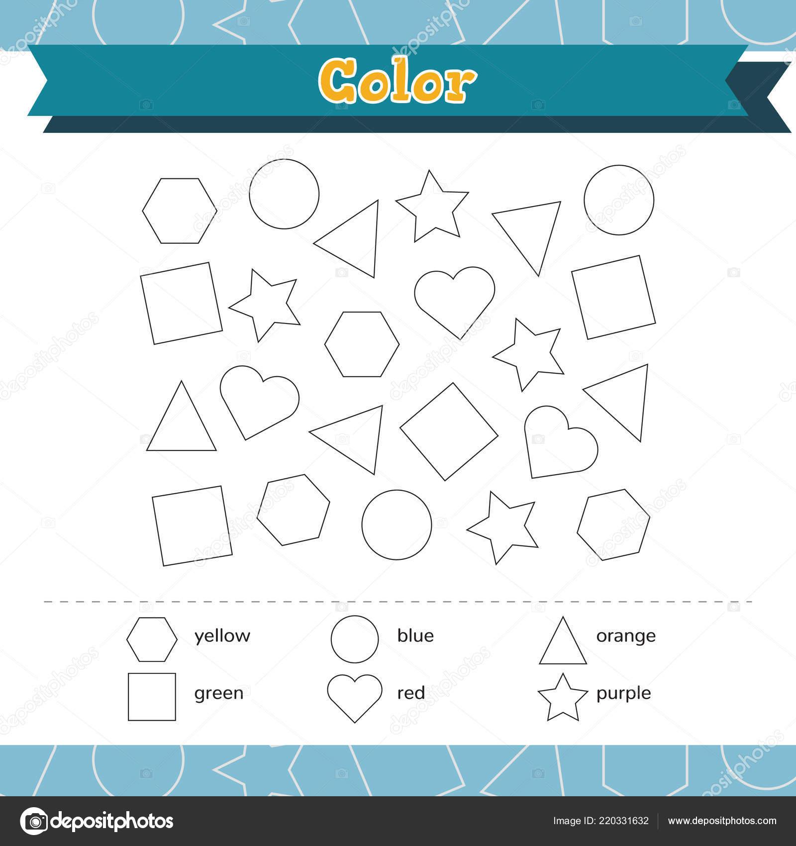Formen Und Geometrischen Figuren Zu Lernen Farbe Vorschule Oder