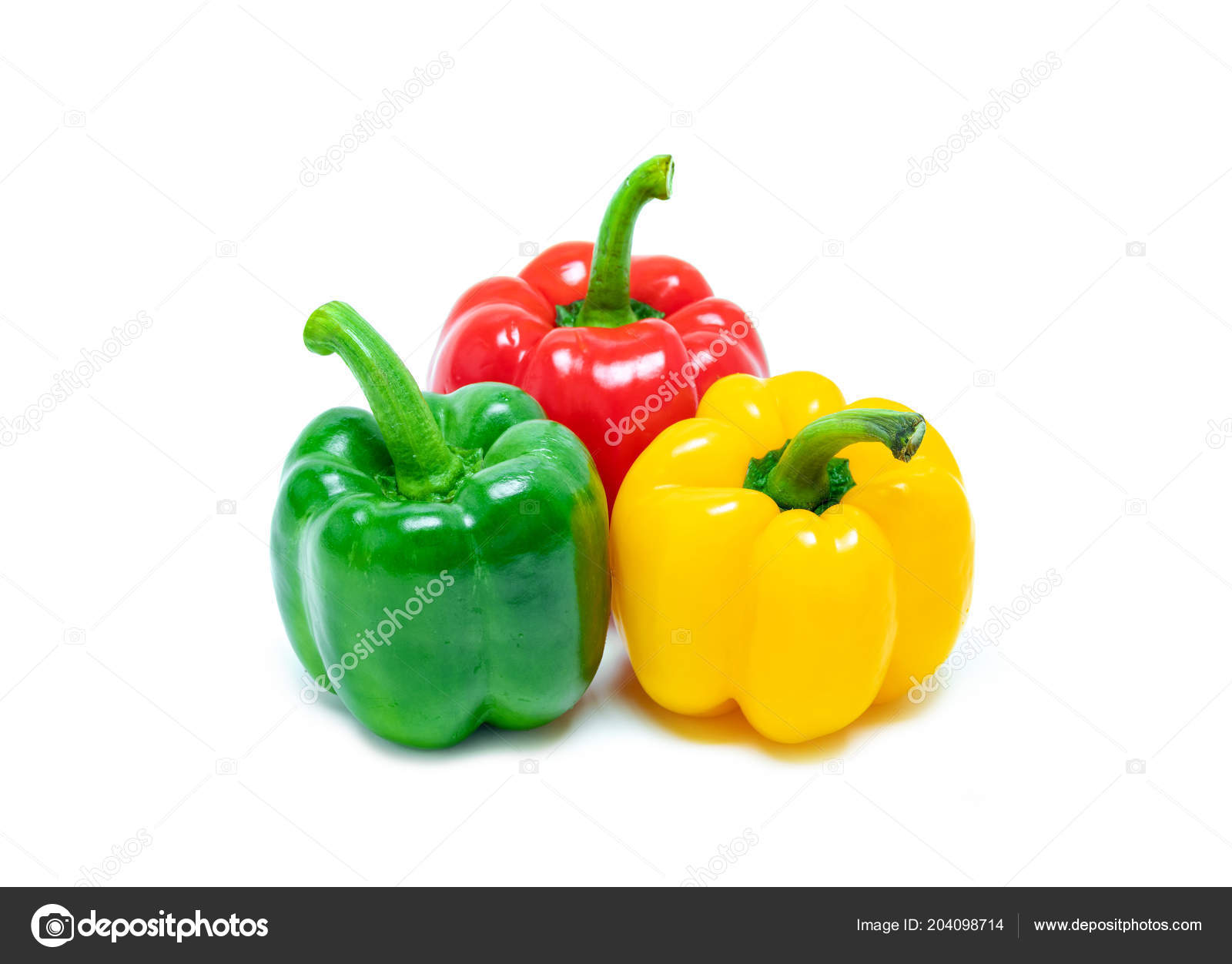 Fresh Vegetable Bell Peppers Three Colored Red Green Yellow