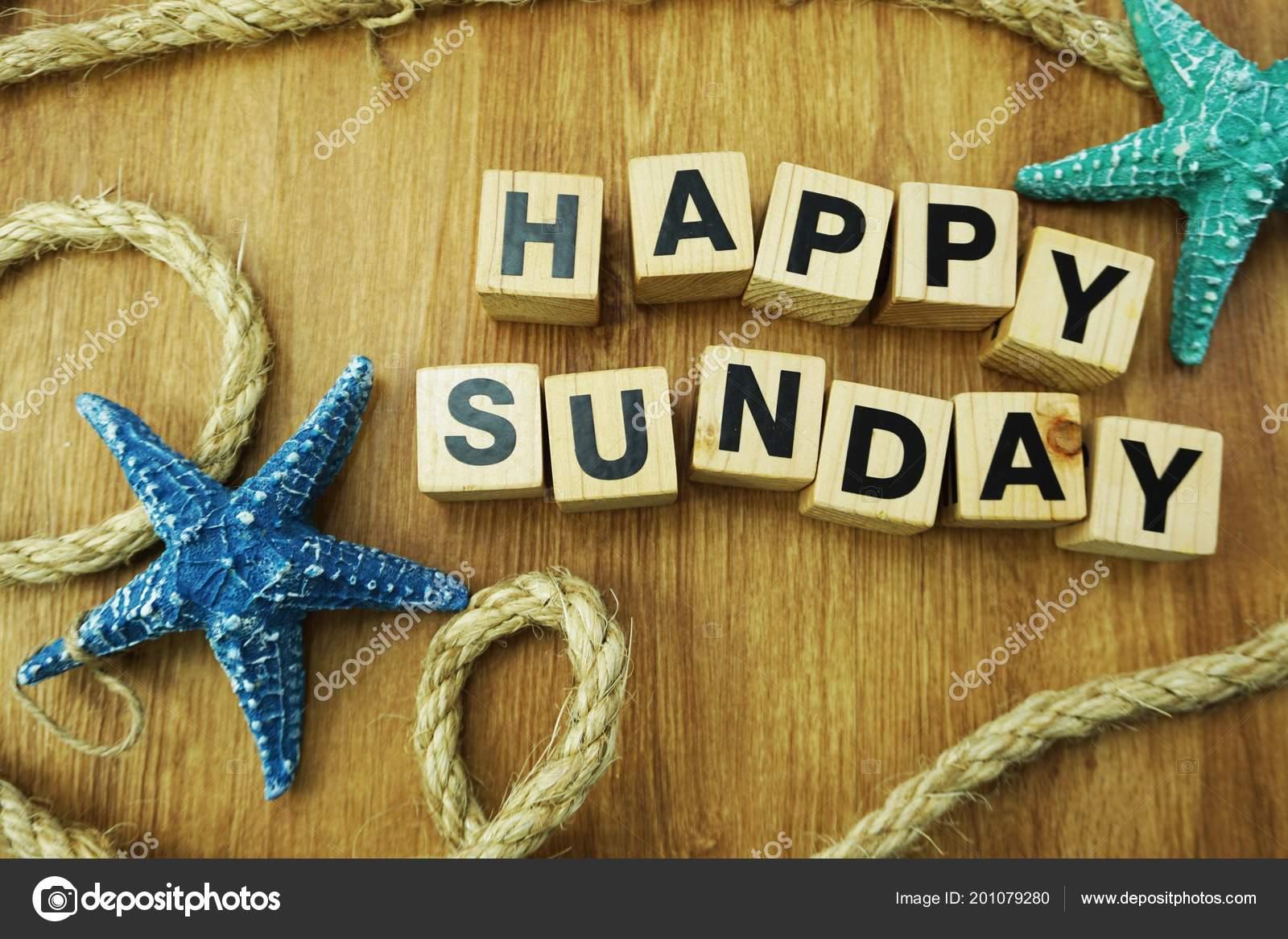 Happy Sunday Alphabet Letters Marine Nautical Wooden