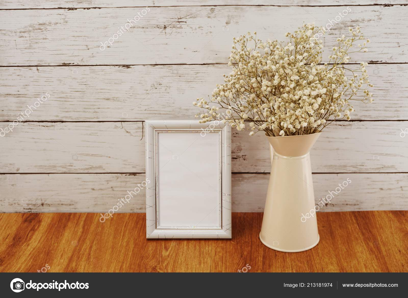 Space Photo Frame Dried Flower Metal Flower Pot — Stock Photo