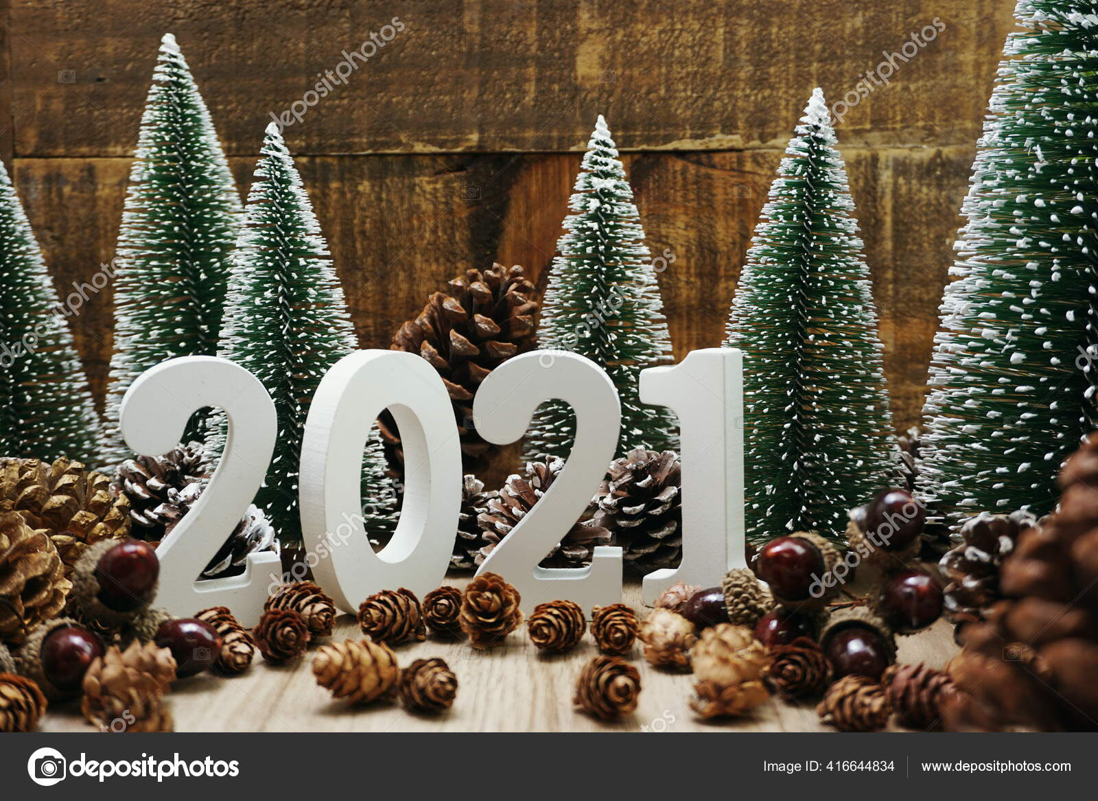 Christmas Tree Recolection 2021 Happy New Year 2021 Festive Background Christmas Tree Pine Cone Stock Photo Image By C May1985 416644834