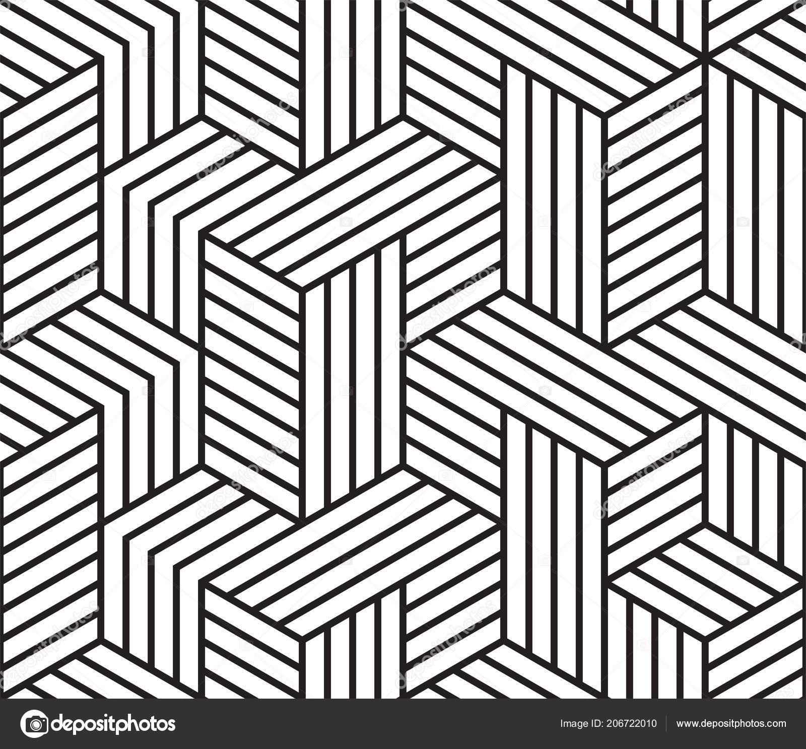 Patrón Geométrico Abstracto Vector Fondo Patrón Líneas Cuadrícula ...
