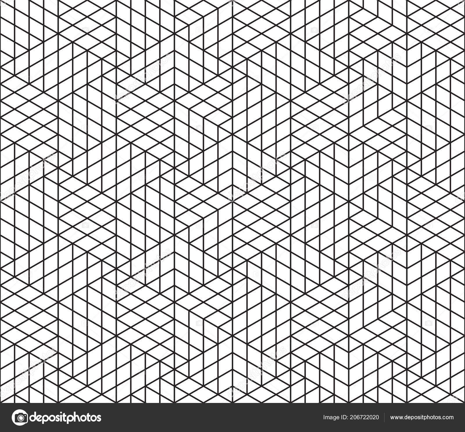 Fondo Vector Patrón Geométrico Abstracto Líneas Cuadrícula Del ...