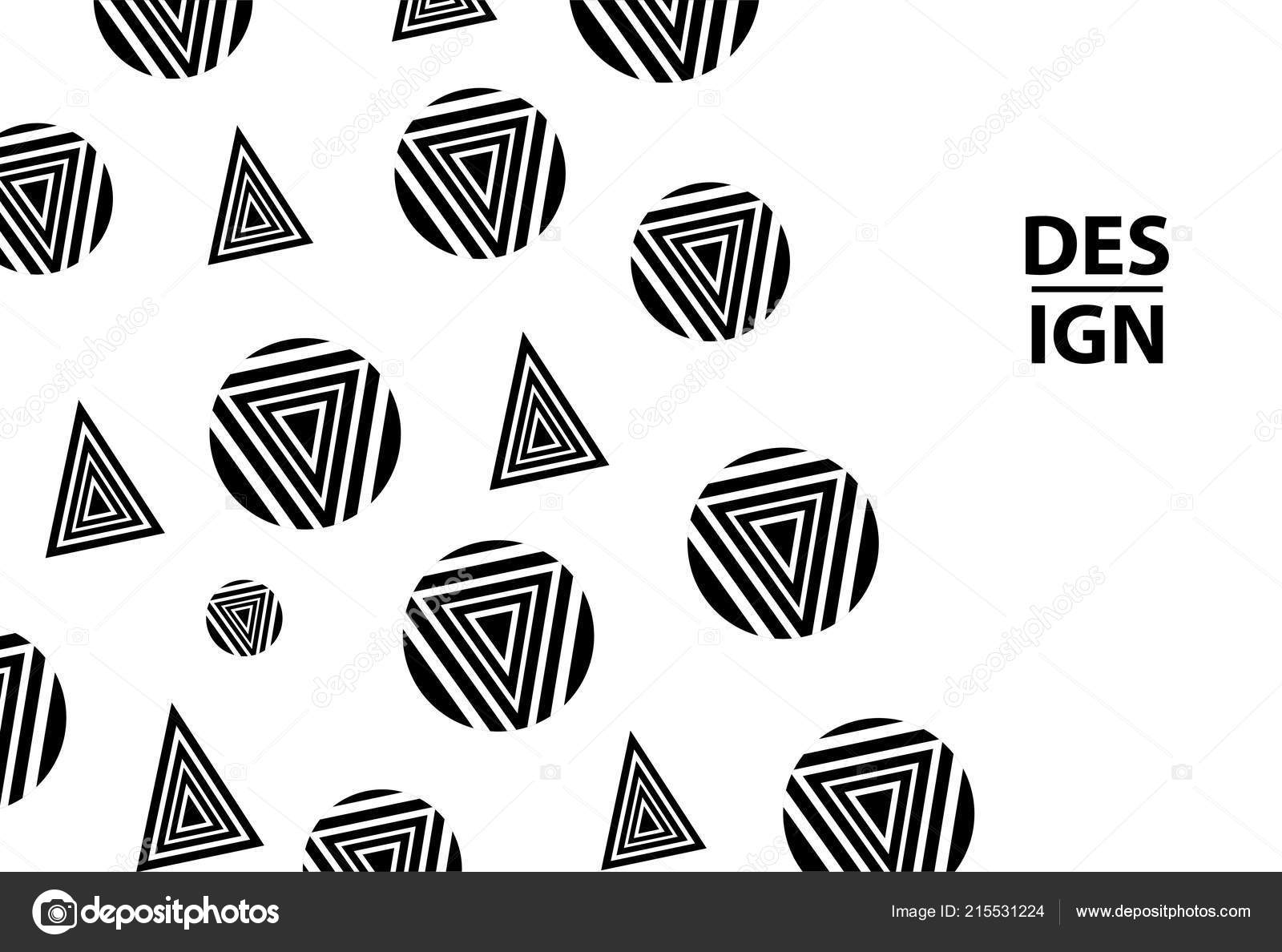 background black circles triangles template card banner poster